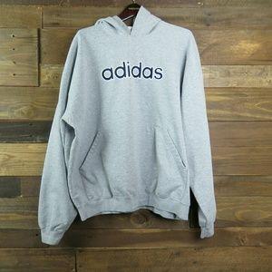 ADIDAS Embroidered Hooded Sweatshirt Hoodie, 2XL